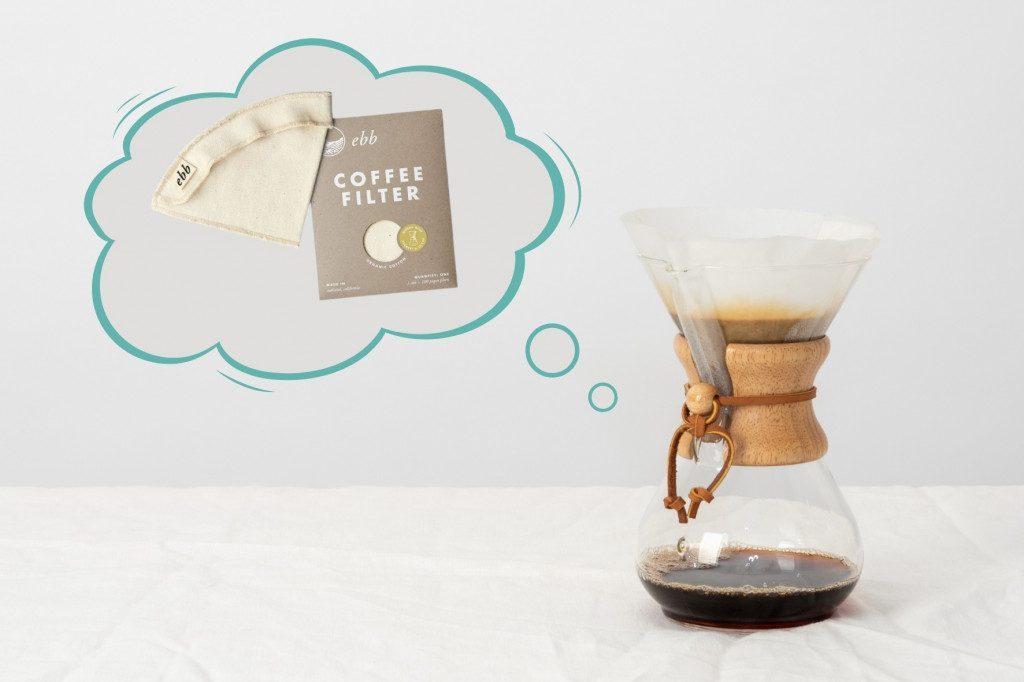 Alternativní příprava kávy metodou Chemex a látkové filtry ebb