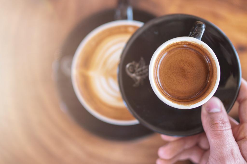 káva espresso jako základ kávových nápojů