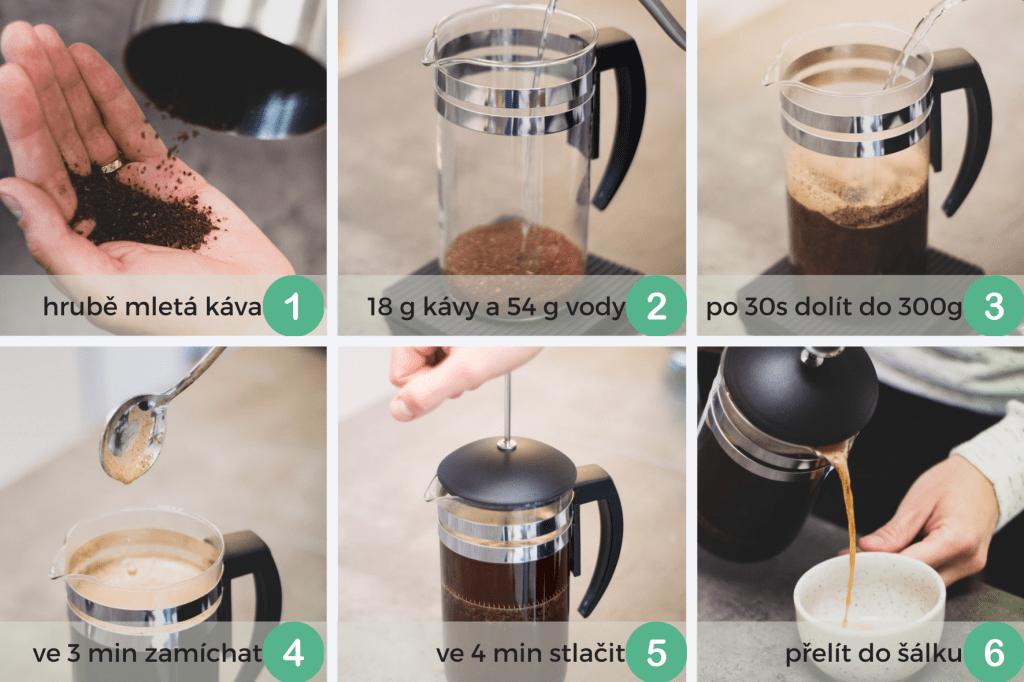 návod na přípravu kávy french press metodou