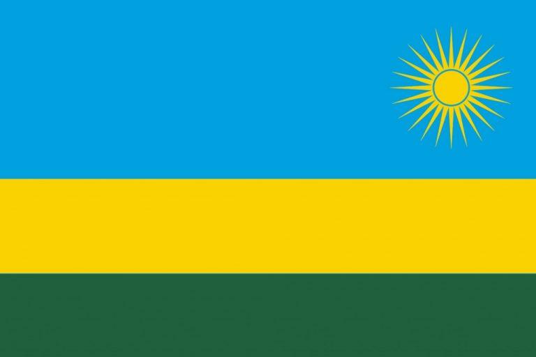 Historie kávy ve Rwandě - rwandská vlajka