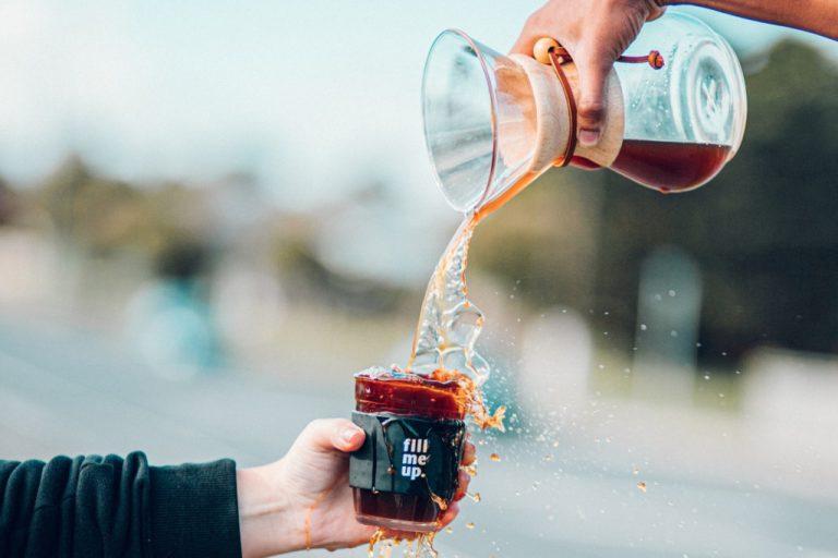 Šálek kávy z Chemexu