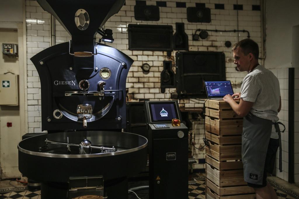 pražírna kávy Lázeňská káva a pražička Giesen